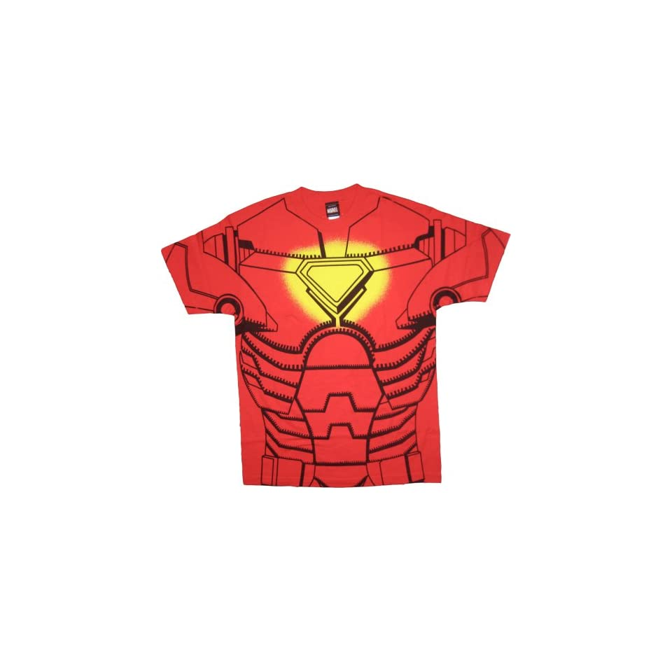 Iron Man Red Costume T Shirt Tee