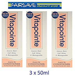 THREE PACKS of Vitapointe Leave In Conditioner 50ml