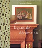 img - for Le  ons de d  coration book / textbook / text book