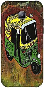 Snoogg New Delhi Auto Rickshaw 2889 Solid Snap On - Back Cover All Around Pro...