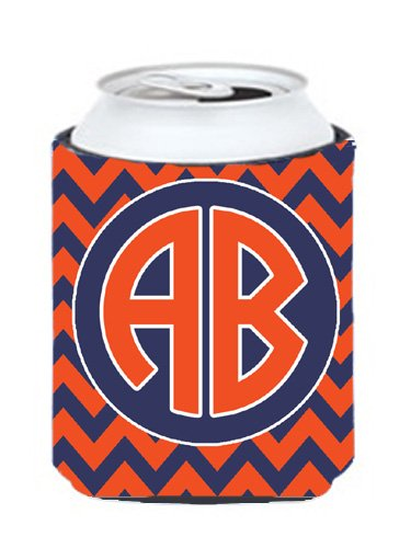 Chevron Orange And Blue For Auburn Personalized Can Or Bottle Hugger