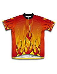 Ashes Red Short Sleeve Cycling Jersey for Women