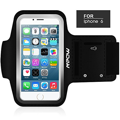MpowR  ランニングスポーツ防汗アームバンドケース+キー・ホルダー iPhone 6 (4.7