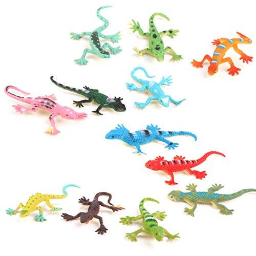 klein kunststoff eidechse gecko fakten simulation dekoration kind spielwaren 12 st ck. Black Bedroom Furniture Sets. Home Design Ideas