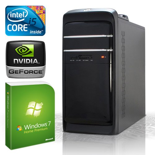 KCS 184205 - PC Intel i5-3550 (Ivybridge) Quadcore 4x 3,3GHz (Turbo bis 3,7GHz) | 8GB DDR3-1333 | 500 GB SATA2 | nVidia Geforce GT630 2048MB GDDR3 HDMI + DVI (DirectX11 + Bluray3D) | 22xDVD-RW | ASUS P8B75-M LX | USB3.0 | 5.1 Sound | Gigabit-LAN | Cardreader | 420W | Microsoft Windows 7 Home Premium 64-Bit