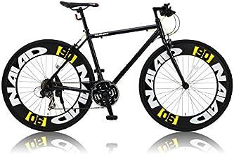 CANOVER(カノーバー) 700×28C アルミフレーム クロスバイク  シマノ21段変速ラピッドファイヤー 極太90mmディープリム LEDライト標準装備 CAC-023 NAIAD(ナイアード) ブラック