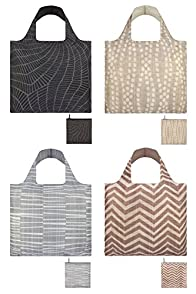 Loqi Earth 4-pack Reusable Shopping Bags