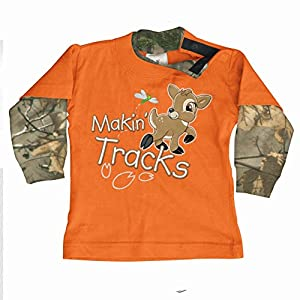 Buck Wear Kids' Makin Tracks T-Shirt 24 Months Realtree Xtra/Orange
