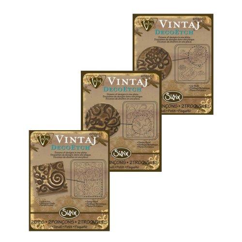3 Pack Vintaj DecoEtch Die Set 1B For Sizzix Bigkick Machine (1 Set)