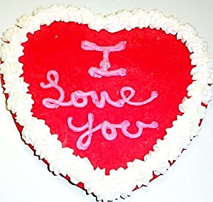 Scott's Cakes Large Red Heart Cookie 7 Inch