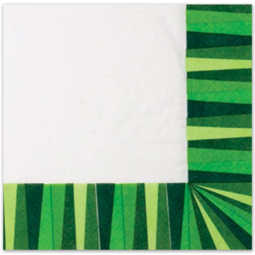 Green Stripe Luncheon Napkins (3-Ply)    (20/Pkg)