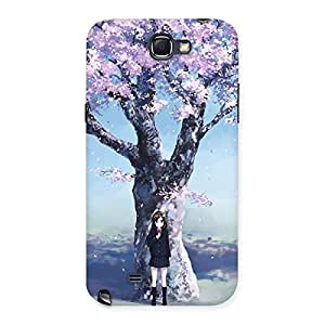 Special Cherry Blossom Girl Back Case Cover for Galaxy Note 2