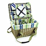 Picnic Time Willowbrook English Style Picnic Basket, Service for 2