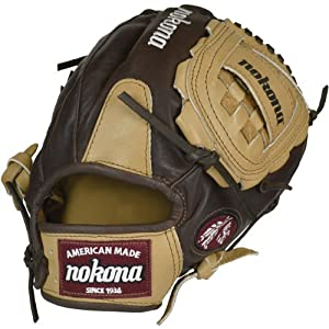 Nokona BB-1200C (AMG1200KCW) 12 Inch Buckaroo Baseball Glove (Right Handed Throw)