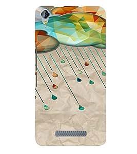PrintVisa Diamond Cloud Rain Design 3D Hard Polycarbonate Designer Back Case Cover for Micromax Juice 3 Plus