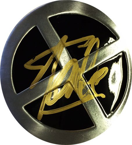 Stan Lee Autographed/Signed X-MEN Belt Buckle Stan Lee Hologram