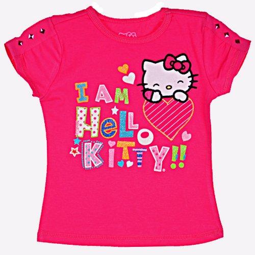 Hello Kitty Girls I Am Hello Kitty Tab Sleeve Top