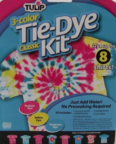 Tulip Classic Tie Dye Kit, Turquoise Yellow Fuschia - 1