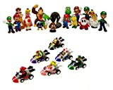 24 Nintendo Super Mario Kart figures SET ca. 5cm perfect for Advent calendar OVP Wario Luigi of n64 wii gameboy thematysî