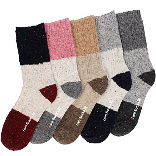 5 Pairs Womens New Winter Cozy Soft Warm Patterned Cute Fashion Thermal Socks