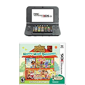 Nintendo 3DS XL Black with Animal Crossing: Happy Home Designer by Nintendo