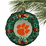 NCAA Clemson Tigers Glass Wreath Ornament at Amazon.com