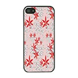 BLACK CASE COVER FOR IPHONE 4, 4S RETRO VINTAGE FLORAL FLOWER PRINT