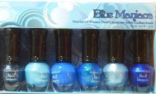 Kleancolor Nail Lacquer Mini Collection - Blue Maniacs (NPC602) (Nail Polish Blue Set compare prices)