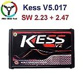 HITSAN Master Kess V2 EU Red Kess V5.017 Online V2.47 V2.23 OBD2 ECU Chip Tuning No Token Limited Ktag V7.020 4 LED ECU Programmer