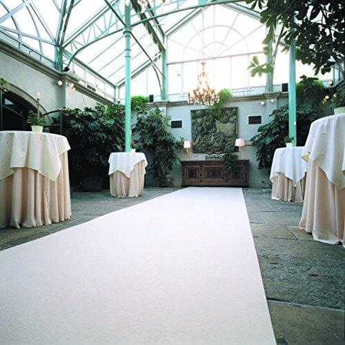 Weißer Teppich - Hochzeitsteppich - VIP Teppich - Eventteppich (4,50EUR/m²) - 1,00m breit