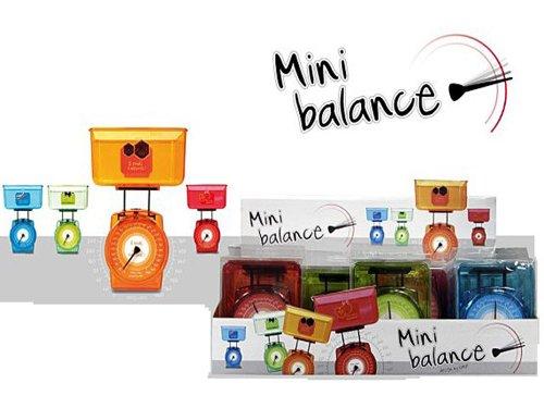 Mini balance colorée, légère et compacte. Capacité : de 20g à 1kg