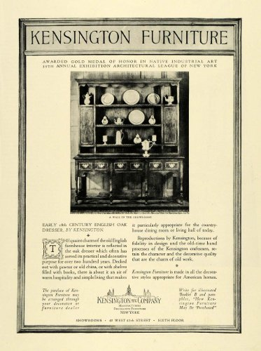 1928 Ad Early 18Th Century English Oak Dresser Kesington Manufacturing Furniture - Original Print Ad front-1030348