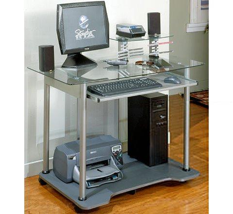 Buy Low Price Comfortable Jupiter Computer Cart, Pewter/Cherry (B0001NS0OY)