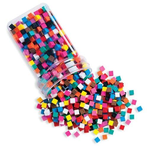 School Smart Centimeter Cubes For Grades K-6 - Set Of 1000 - Assorted Colors front-952502