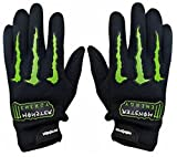 #10: AlexVyan®-Genuine Accessory- Monster Black and Green Protective Special High QualityFull Hand Riding Gloves, Protective Cycling Byke Bike Motorcycle Glove for Men, Gents, Boys Universal Size