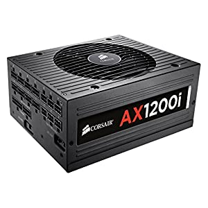 Corsair AX1200i 1200 Watt, 80 Plus Platinum Certified Digital ATX Power Supply