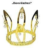 Corona de oro de Princesa- accesorio excepcional para carnavales, fiestas de cumplea�os, fiestas de disfraces o despedidas de soltera - Bella Durmiente