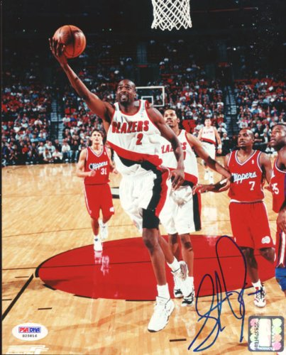 Stacey Augmon Autographed 8x10 Photo Trail Blazers PSA/DNA #S25816