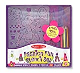 Melissa & Doug Fashion Stencil Set