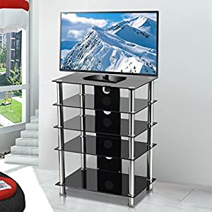 Cheap  Beyondfashion Three/Five-Shelf  Glass TV Stand for 3D LCD LED PLASMA Panel