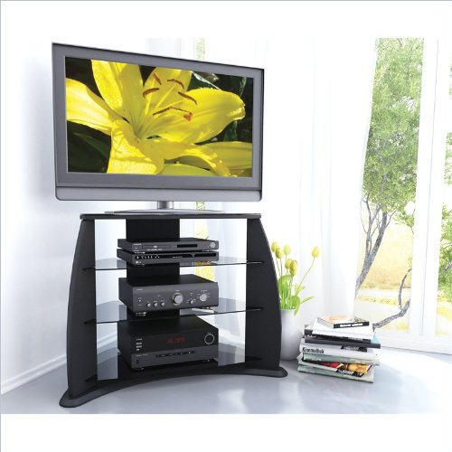 Cheap Fior 32″ – 46″ TV Stand in Black Lacquer (FP-3000)