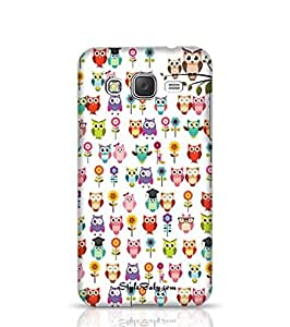Cases Cover for J2 Owl with White Background -Samsung Multicolor