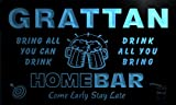 q17584-b GRATTAN Family Name Home Bar Beer Mug Cheers Neon Light Sign
