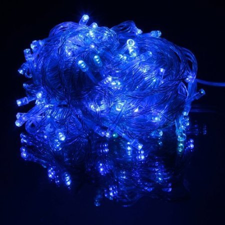 Wootop-10M 100 Led Blue Fairy Light String Holiday Lights For Christmas Party Led-Xs-Blue