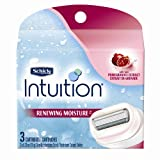 Schick Intuition Plus Renewing bikini Razor Refill - Pomegranate, 3-Count