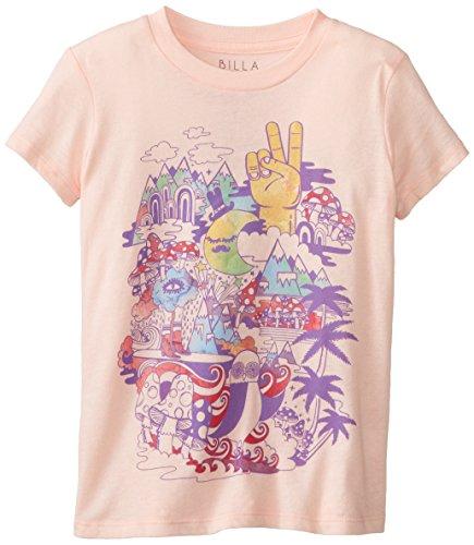 Billabong Big Girls' Healing Waves T-Shirt, Blush, Medium