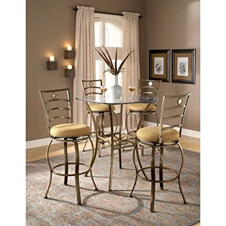 Brookside Bar Height Bistro Table 5 Piece Set w/ Marin Chairs