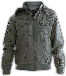 Ripstope Boys\' Hood Windbreaker Jacket Water Proof Summer Raincoat Track Top Sb Grey