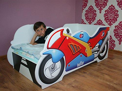 Moderne Lit d'Enfant Bébé Toddler avec matelas Voiture(MOTO)
