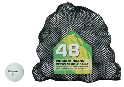 Second Chance Golf Lakebälle TaylorMade 48 Premium Grade A, weiß, PRE-48-MESH-TM